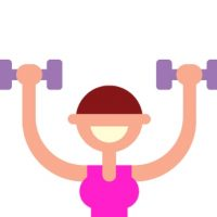 weight lifter pink and purple